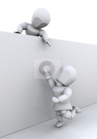 Teamwork stock photo, 3D rendered image showing teamwork by Kirsty Pargeter