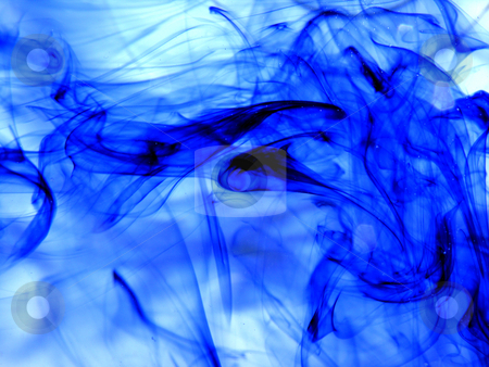 Abstract Blue Smoke stock photo,  by Kirsty Pargeter
