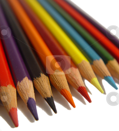 Colored Pencils stock photo,  by Kirsty Pargeter