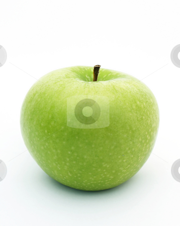 Green apple stock photo, Isolated green apple by Kirsty Pargeter
