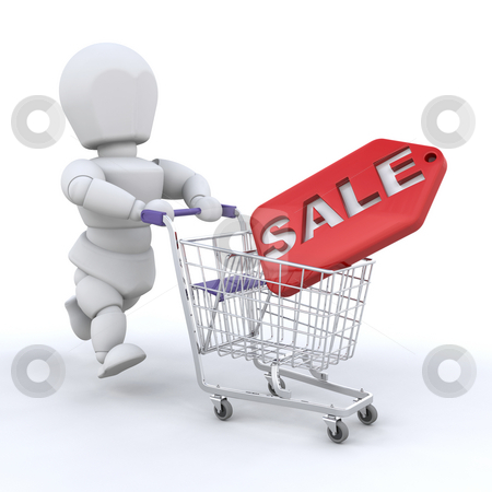 Shopping in the sales stock photo, Someone hitting the sales by Kirsty Pargeter
