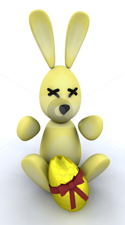 Easter bunny stock photo, Easter bunny with egg by Kirsty Pargeter