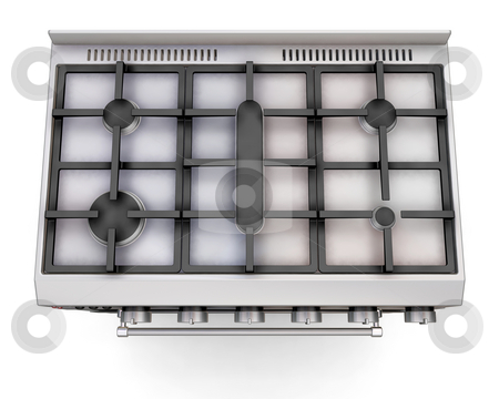 Top of a cooker stock photo, 3D render of a cooker - top view by Kirsty Pargeter