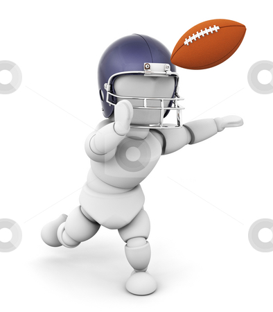 Football player stock photo, 3D render of an American football player by Kirsty Pargeter