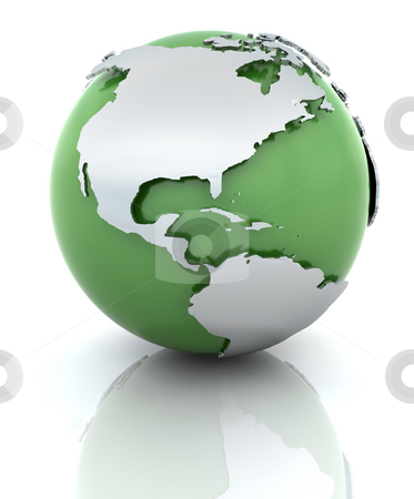 Green globe stock photo, 3D render of a globe by Kirsty Pargeter