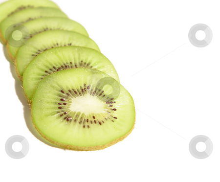 Sliced Kiwi on White stock photo,  by Kirsty Pargeter