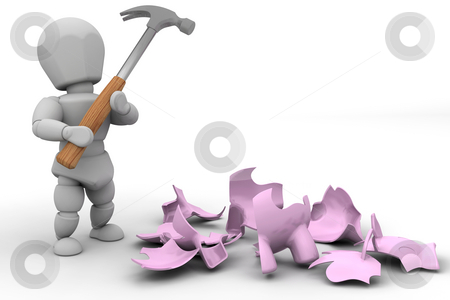 Smash the piggy bank stock photo, Someone who has smashed their piggy bank by Kirsty Pargeter