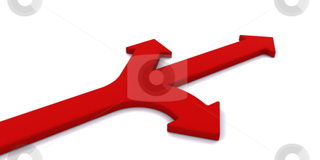 Decision time stock photo, Arrows pointing in different directions by Kirsty Pargeter