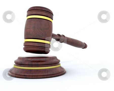 Gavel stock photo, 3D render of a gavel by Kirsty Pargeter