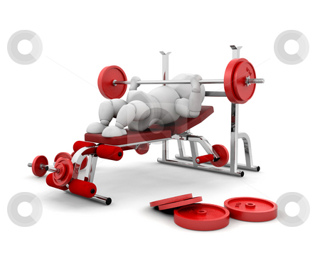Weight lifting stock photo, 3D render of someone weightlifting by Kirsty Pargeter