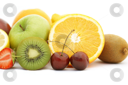 Fresh fruit stock photo, Various bits of fresh fruit by Kirsty Pargeter
