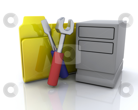 System folder icon stock photo, 3D computer icon for system folder by Kirsty Pargeter