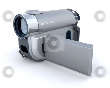 Digital video camera stock photo, 3d render of a consumer compact video camera by Kirsty Pargeter