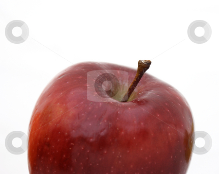 Red apple stock photo, Close up shot of a red apple by Kirsty Pargeter