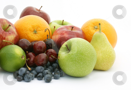 Fruit stock photo, Display of various fruits and berries by Kirsty Pargeter