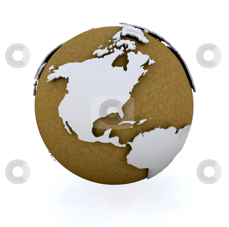 3D globe stock photo, 3D render of a globe by Kirsty Pargeter