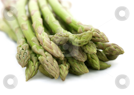 Asparagus tips stock photo, Close up shot of asparagus tips by Kirsty Pargeter