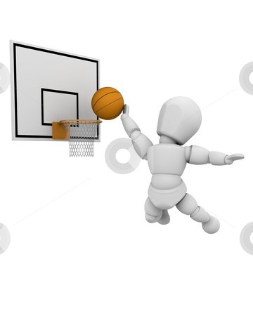 Basketball player stock photo, 3D render of a basketball player by Kirsty Pargeter