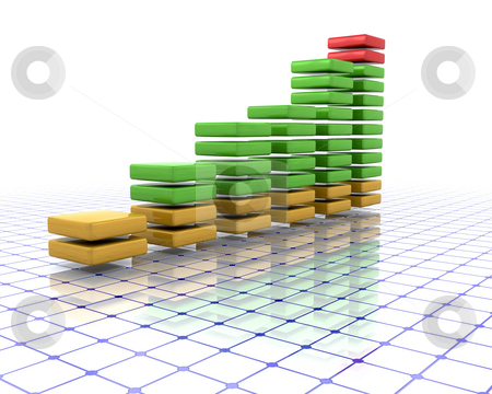 3D chart stock photo, 3D render of a chart by Kirsty Pargeter
