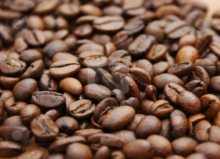 Coffee beans stock photo, Background of coffee beans by Kirsty Pargeter