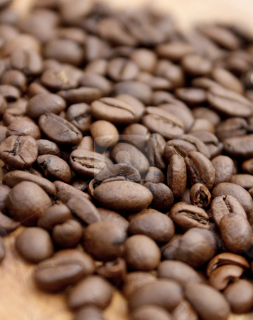 Coffee beans stock photo, Coffee beans - shallow depth of field used by Kirsty Pargeter