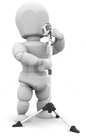 Singer stock photo, 3D render of someone singing by Kirsty Pargeter