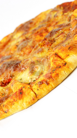 Pizza margherita stock photo, Close up of a pizza margherita by Kirsty Pargeter