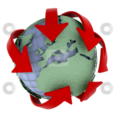 Global network stock photo, 3d render of a globe depicting global networking and distribution by Kirsty Pargeter
