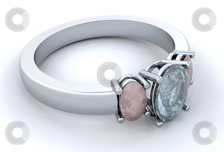 Engagment ring stock photo, Silver engagement ring by Kirsty Pargeter