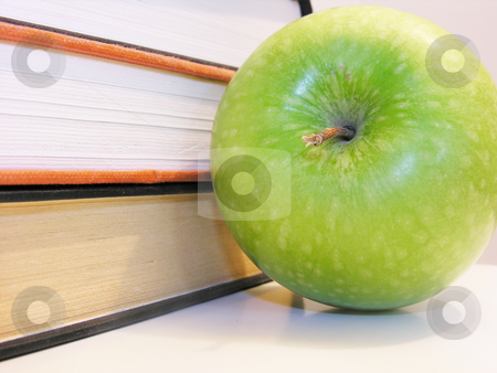 Apple with Books stock photo,  by Kirsty Pargeter