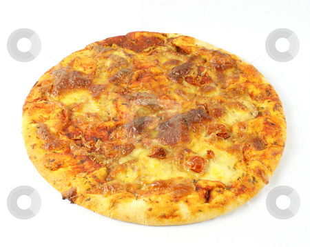 Pizza margherita stock photo, Pizza margherita on a white background by Kirsty Pargeter