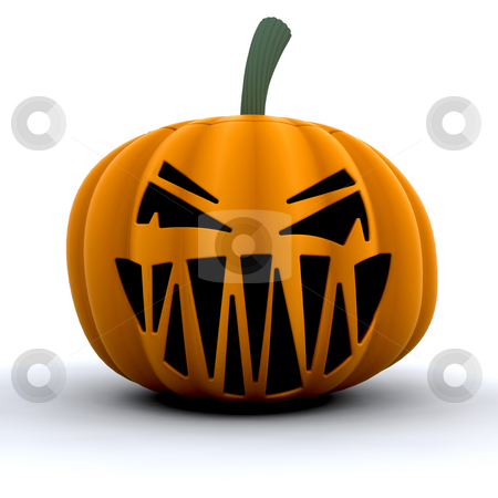 Scary pumpkin stock photo, 3D render of a scary pumpkin by Kirsty Pargeter