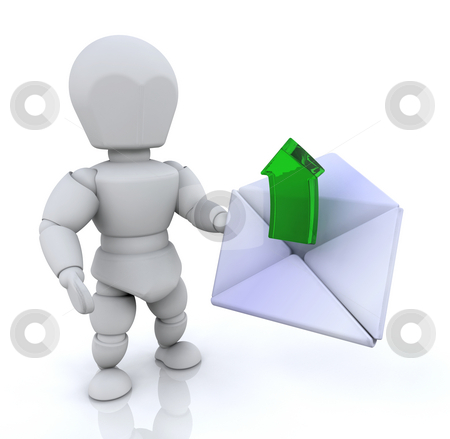 Opening mail stock photo, Person opening mail by Kirsty Pargeter