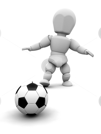 Soccer stock photo, Someone about to kick a soccer ball by Kirsty Pargeter