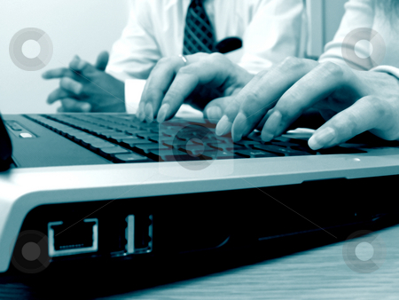 Hands on Keyboard stock photo,  by Kirsty Pargeter