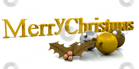 Merry Christmas stock photo, Golden Christmas background by Kirsty Pargeter