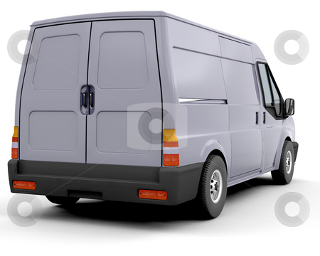 Delivery van stock photo, 3D render of a delivery van by Kirsty Pargeter