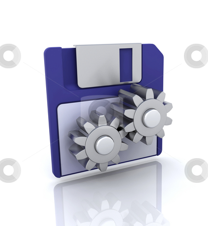Disk tools icon stock photo, 3D icon for disk tools by Kirsty Pargeter
