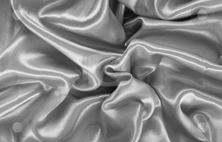 Grey satin stock photo, Abstract background of grey satin by Kirsty Pargeter