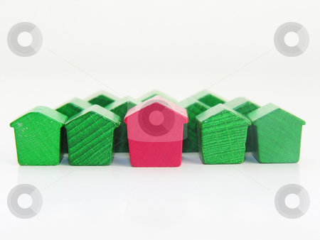 Housing on white background stock photo,  by Kirsty Pargeter