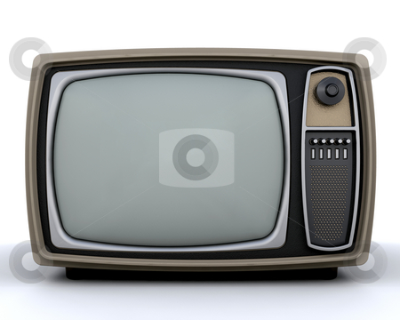 Retro television stock photo, Retro styled television by Kirsty Pargeter