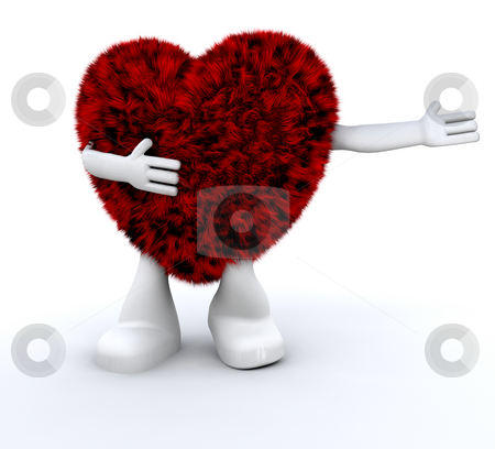 Furry heart dude stock photo, Cute furry heart dude by Kirsty Pargeter