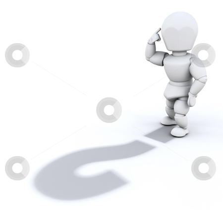 Question stock photo, Person with question mark as their shadow by Kirsty Pargeter