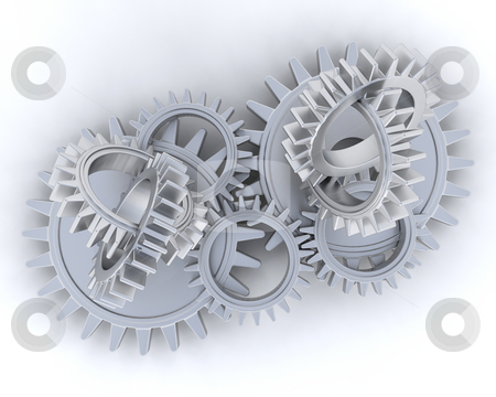 Gears stock photo, Interlocking gears by Kirsty Pargeter