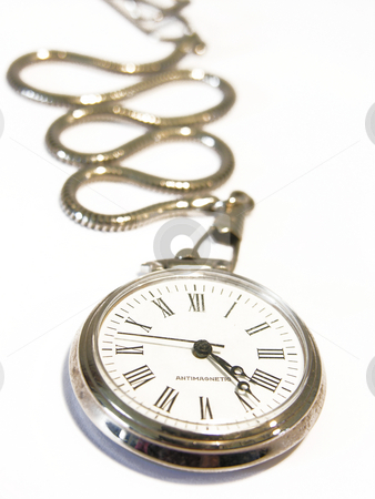 Pocket Watch on White stock photo,  by Kirsty Pargeter