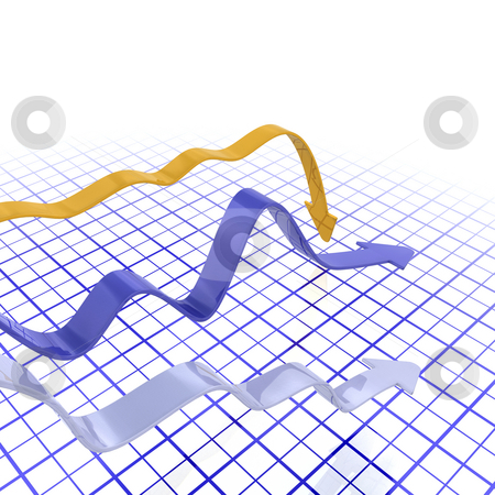 Falling profits stock photo, 3D render of a chart depicting falling profits by Kirsty Pargeter