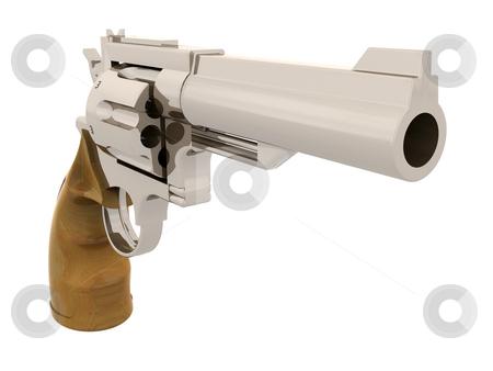 Handgun stock photo, 3D render of a gun by Kirsty Pargeter