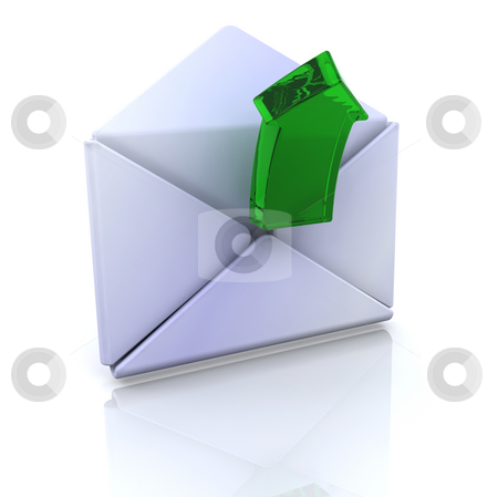 Computer icon for open email stock photo, 3D computer icon for open email by Kirsty Pargeter