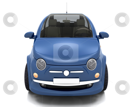City car stock photo, 3D render of a car by Kirsty Pargeter
