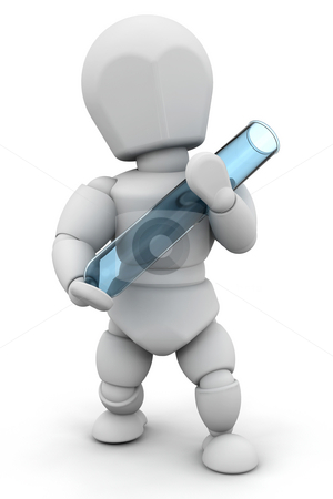 Person with test tube stock photo, Someone holding a test tube by Kirsty Pargeter